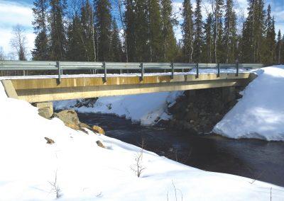 Bro för Aakenus, Kittilä.