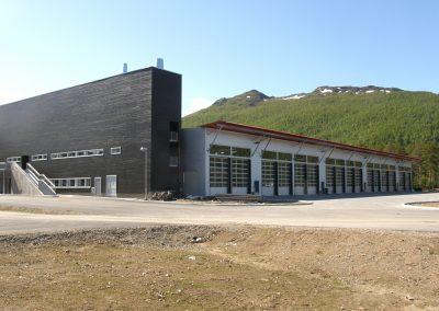 Panssarivaunuhalli, Pohjois-Norja
