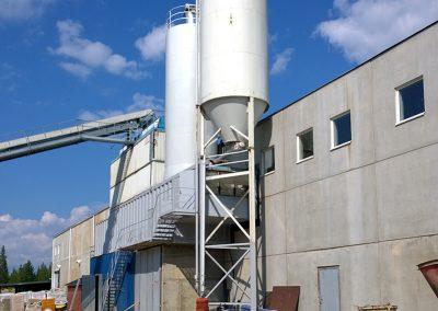 Pellon Betoni Oys betongblandingsfabrikk.