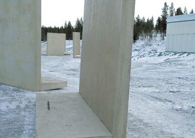 Stödmur för Svappavaara.
